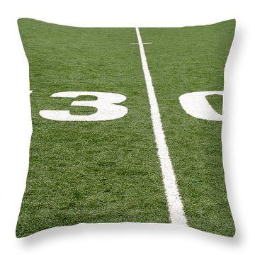 Throw Pillow featuring the photograph Football Field Thirty by Henrik Lehnerer