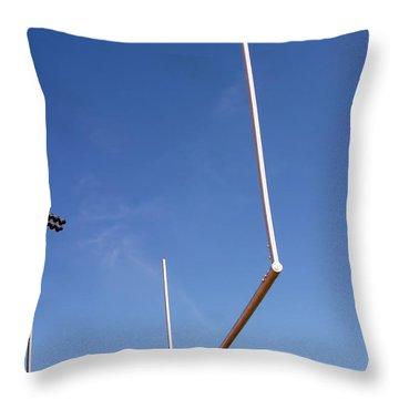 Throw Pillow featuring the photograph Football Goal by Henrik Lehnerer