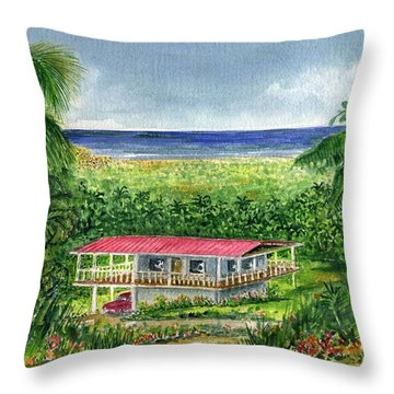 Foothills Of El Yunque Puerto Rico Throw Pillow by Frank Hunter