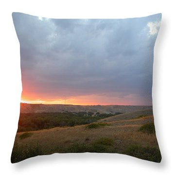 Foothills Sunset Throw Pillow by Stuart Turnbull