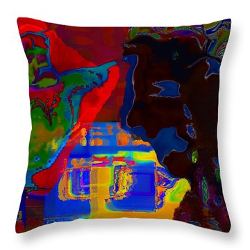 For Crying Out Loud Throw Pillow by Mathilde Vhargon