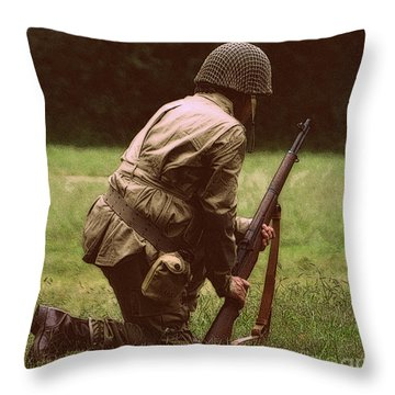 Throw Pillow featuring the photograph For Freedom by Lydia Holly