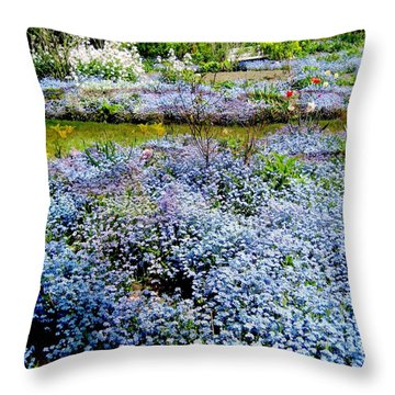 For-get-me-never Throw Pillow by Shirley Sirois
