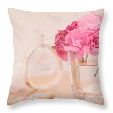 For Her Throw Pillow by Jenny Rainbow