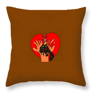 For Zsa Zsa Throw Pillow by Anita Dale Livaditis