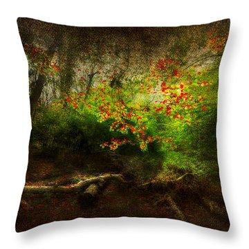 Forbidden Woods Throw Pillow by Svetlana Sewell