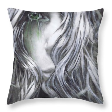 Forced  To See Throw Pillow by Renee Catherine Wittmann