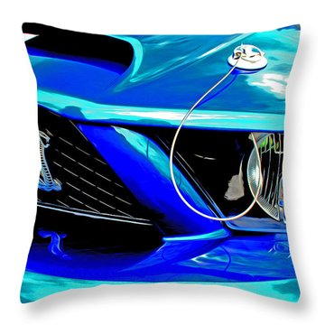 Throw Pillow featuring the digital art Ford Mustang Cobra by Tony Cooper