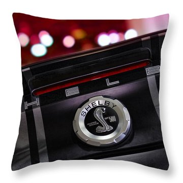 Ford Mustang Shelby Gt500 Super Snake  Throw Pillow by Gordon Dean II