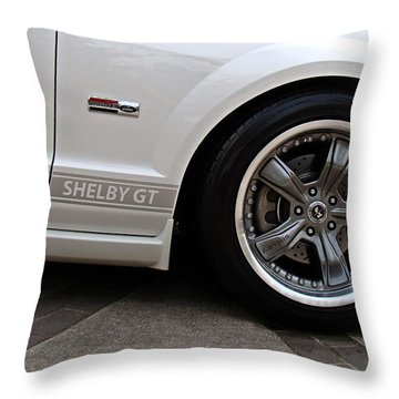 Throw Pillow featuring the photograph Ford Shelby Gt by Nick Kloepping