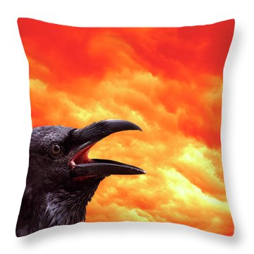Foreboding Throw Pillow by Michal Boubin