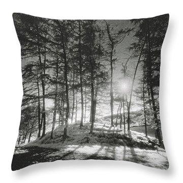 Forelacka Burial Ground Throw Pillow by Simon Marsden