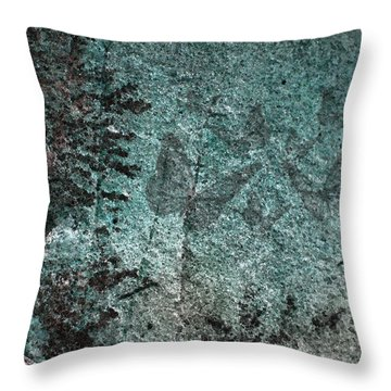 Forest Abstract Throw Pillow by Eena Bo