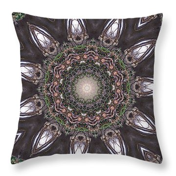Forest Mandala 1 Throw Pillow by Rhonda Barrett