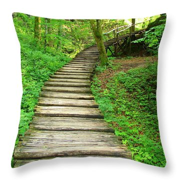 Throw Pillow featuring the photograph Forest Path by Ramona Johnston