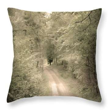 Forest Path Throw Pillow by Svetlana Sewell