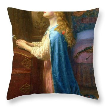 'forget Me Not' Throw Pillow