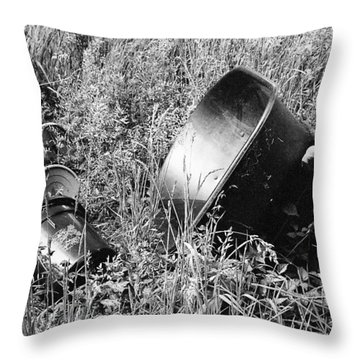 Throw Pillow featuring the photograph Forgotten by Chriss Pagani