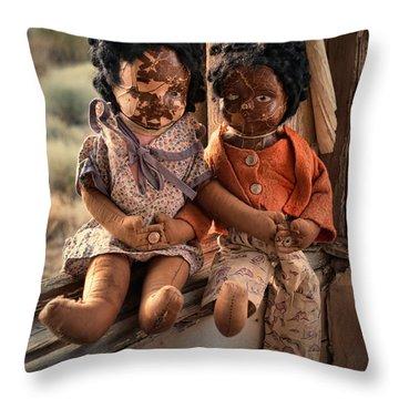 Forgotten Dolls Study II Throw Pillow