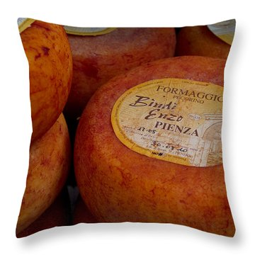 Formaggio Cheese Of Italy Throw Pillow by Roger Mullenhour