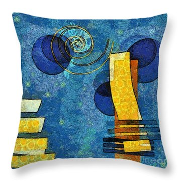 Formes - 09g Throw Pillow by Variance Collections