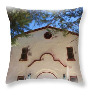 Fort Bayard Theater Throw Pillow by FeVa  Fotos