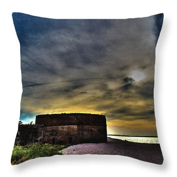 Fort Clinch Throw Pillow by Shannon Harrington