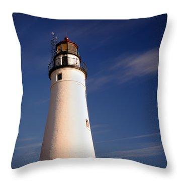 Fort Gratiot Lighthouse Throw Pillow by Gordon Dean II