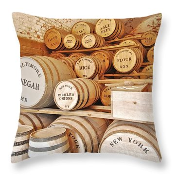 Fort Macon Food Supplies_9070_3759 Throw Pillow by Michael Peychich