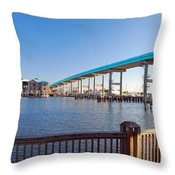 Fort Myers Bridge Throw Pillow