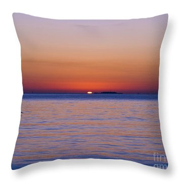 Fort Sumter Sunrise Throw Pillow by Al Powell Photography USA