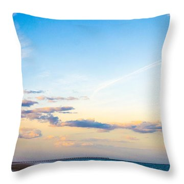 Throw Pillow featuring the photograph Forte Clinch Pier by Shannon Harrington