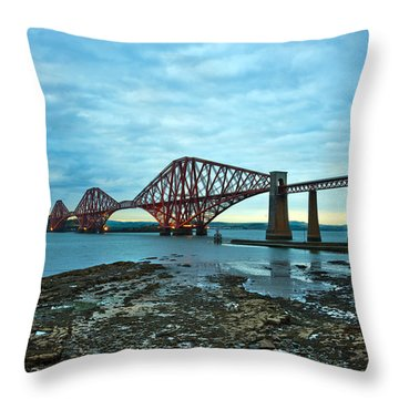 Forth Rail Bridge Throw Pillow by Svetlana Sewell