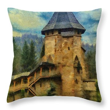 Fortified Faith Throw Pillow by Jeff Kolker
