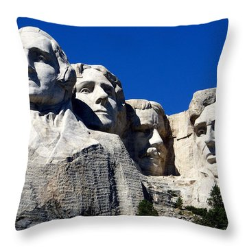 Fortitude In America Throw Pillow by Karen Wiles
