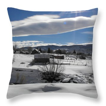 Fortress Of Solitude Throw Pillow