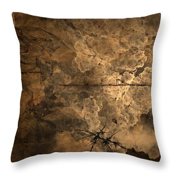 Fossilite Throw Pillow by Christopher Gaston