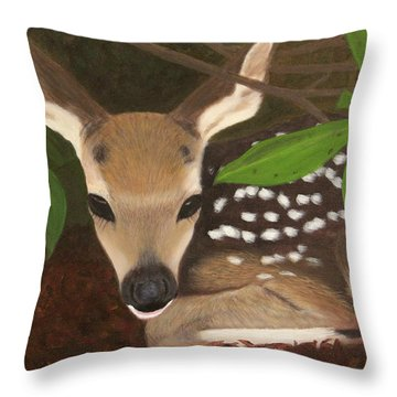 Found A Fawn Throw Pillow