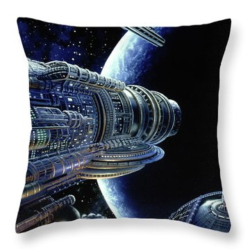 Foundation Trilogy Throw Pillow by Don Dixon