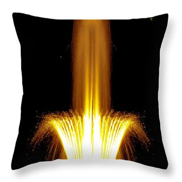 Fountain Flames Throw Pillow by DigiArt Diaries by Vicky B Fuller