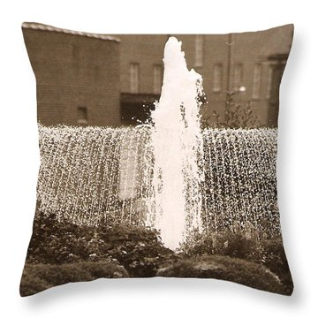 Fountain In Town Throw Pillow