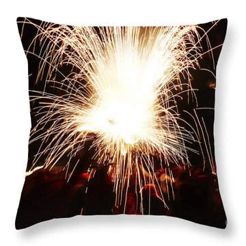 Fountain Of Sparks Throw Pillow
