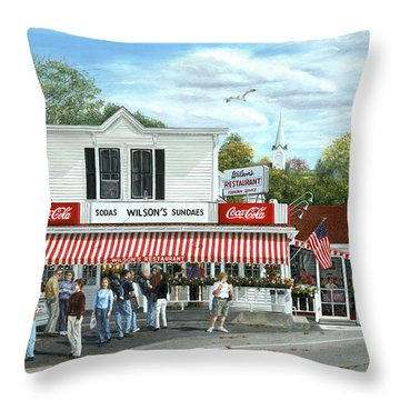 Fountain Of Youth II Throw Pillow by Doug Kreuger
