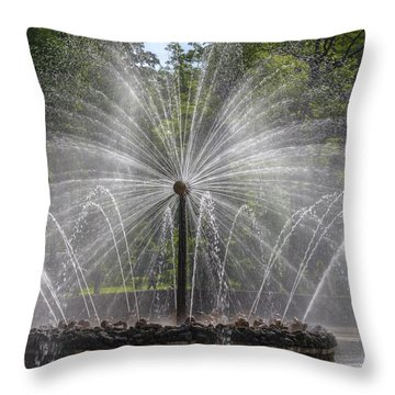 Fountain  Peterhof Palace  St Petersburg   Russia Throw Pillow by Clare Bambers