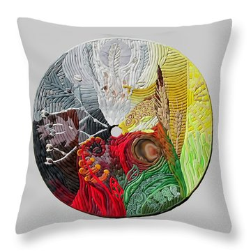 Four Directions  2 Throw Pillow by Arla Patch