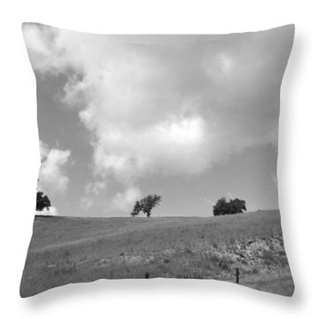 Throw Pillow featuring the photograph Four On The Hill by Kathleen Grace