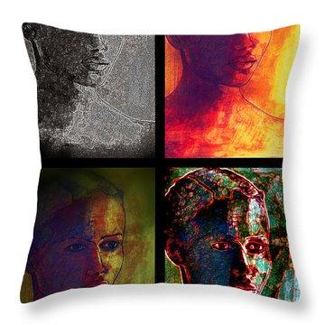 Four Seasons Throw Pillow by Diane montana Jansson