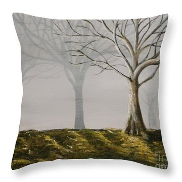 Four Trees Throw Pillow