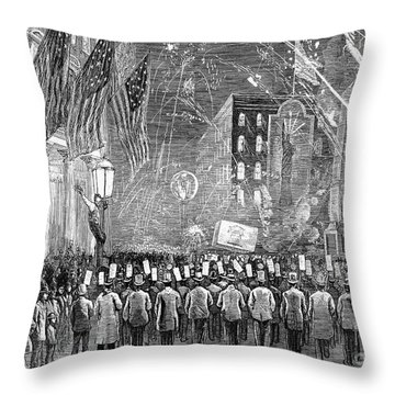Fourth Of July, 1876 Throw Pillow by Granger