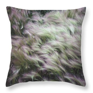 Foxtail Barley And Campion Throw Pillow